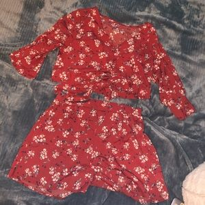 NWOT Shein Floral Two-Piece